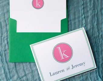 FREE SHIPPING Thank You Custom Monogram Personalized Stationery / Wedding Thank Yous / Bridal Thank You Note cards | Cute Bridal Shower Gift
