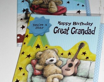 12 cards GREAT GRANDAD Birthday cards x12 Just 35p - We also have birthday cards / christmas cards / thank you cards