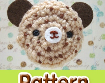Amigurumi Kingdom Chocolate Chip Cookie Bear Keychain Crochet Pattern