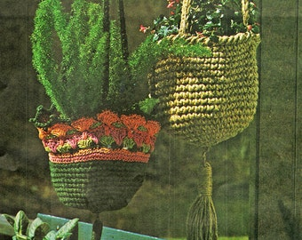 Crochet Patterns, Crochet Home Decor, Hanging Planters Crochet Pattern, Housewarming Gift Idea, INSTANT Download Pattern in PDF (1703)