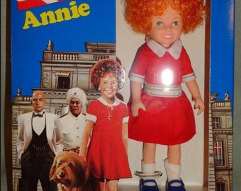 """Vintage 1982 Knickerbocker the world of Annie 6"""" little orphan doll #3856 New nib annie move collectible musical"""