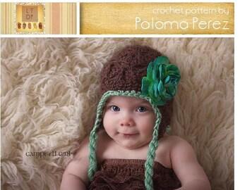 Crochet Elegant Earflap - Crochet flapper earflap pattern - Crochet Pattern