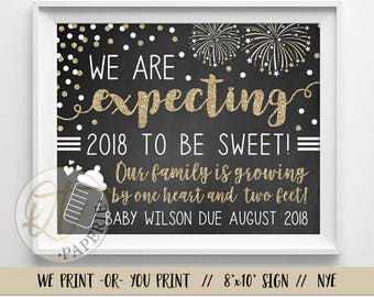 New Years Eve Pregnancy Announcement, NYE Pregnancy Announcement, New Years Pregnancy Announcement, January Pregnancy Announcement
