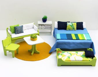 Starbeam 6-piece Furniture Set - Miniature Modern Decor, 1:12 scale