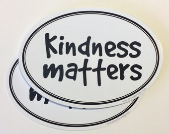 kindness matters vinyl bumper sticker decal