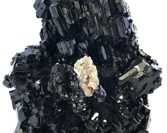 Black Tourmaline ~ HUGE ~ TOP Quality ~ Hyalite Var. Opal. ~ Erongo Mountains ~ Namibia ~ Africa Rocks and Minerals ~ 807g