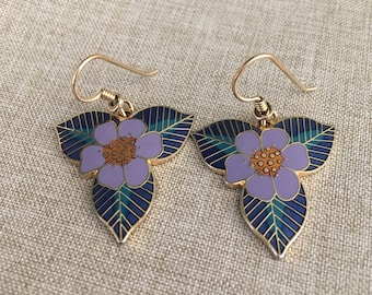 "Laurel Burch Vintage ""Sarah's Wildflowers"" Dangle Earrings"