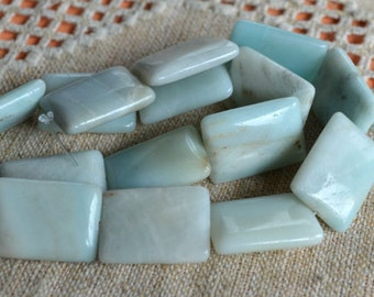 Amazonite Natural Gemstone Beads 14x10mm Rectangle 16 Inches Strand