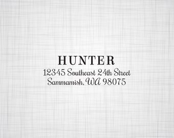 Simply Serif & Script Personalized Address Stamp, Wedding Return Address Stamp, Custom Address Stamp, Self Inking Stamp, Rubber Stamper