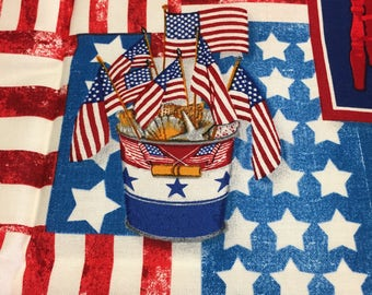 4th of July Fat Quarters Fabric Bundle  3 piece