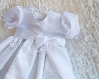 Mila Gown - Christening Gown, Girls Christening Gown, Baptism Dress