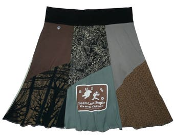 Taste Like Chicken 2X 3X Skirt Upcycled Skirt Plus Boho Hippie Skirt Women's Traveling Skirt Best Selling Item Twinkle Skirts Twinklewear