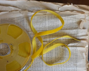 small goldenrod yellow velvet ribbon