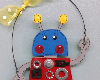 Robot Boy Christmas Ornament