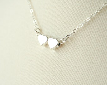 Best Friend Necklace / Sterling Silver Edition / simple delicate bridesmaid jewelry