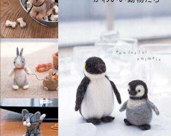 New Edition - Handmade Animal Mascots Made Of Wool Felt - Japanese craft book