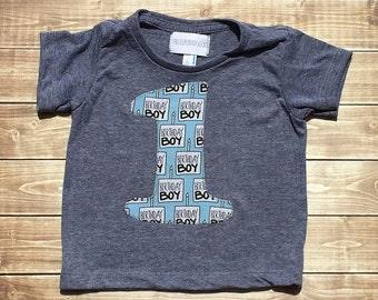 First Birthday// One//Boy//Shirt//Birthday Boy //Birthday Shirt//READY TO SHIP