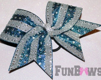 GORGEOUS  Rhinestone and Glitter Allstar Cheer bow by FunBows ! - WOW !