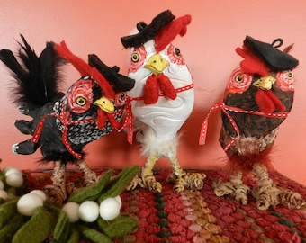 Three French Hens - Art Shoe Sculpture