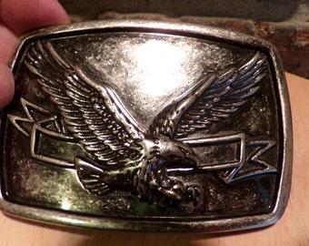 Vintage Eagle belt buckle, belt buckle, Eagle buckle, raised eagle belt buckle