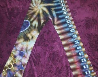 Woman's large tie dye American apparel yoga pants, hippie, hooper, workout, festival wear