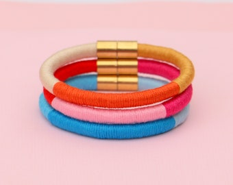 Stacking Rope Bracelets for Women, Colorful Cotton Bracelets For Her