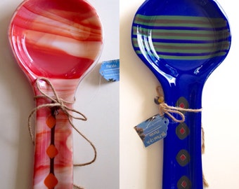 Fused Glass Spoon Rest