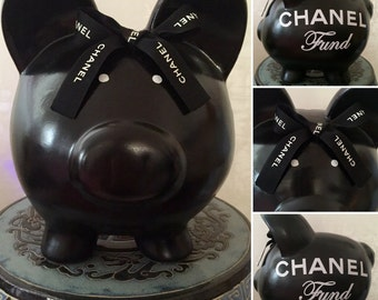 Large Luxury Piggy Bank made with Authentic Ribbon!