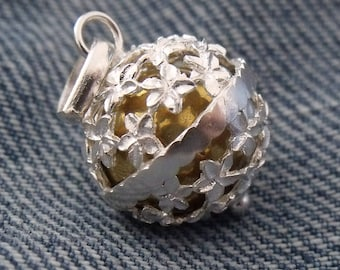 Harmony Chime Ball Angel Caller Mexican Bola Chiming Pendant 925 Sterling Silver Free UK Post