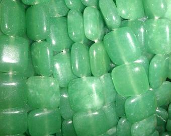 10 x 10 mm Green Aventurine Beads - 10GAB31213