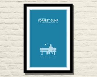 Forrest Gump Movie Poster 11 X 17 Art Print, Vintage Style, Minimalist, Home Decor