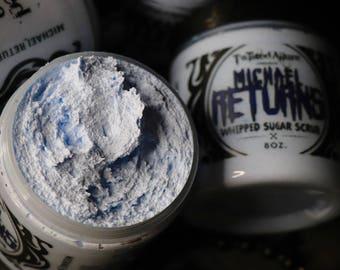 8 oz Michael Returns  whipped Sugar Scrub   Blueberry Bakery   Whipped Sugar Scrub   Sugar Scrub    Halloween    Gothic   horror