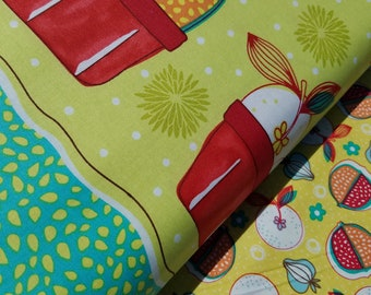 Kitchen Fabric, Cucina Fresco Cotton Fabric by Red Rooster