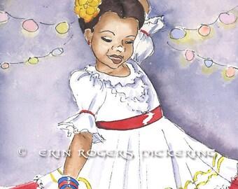 Latina Dancer traditional dress 5x7 Print