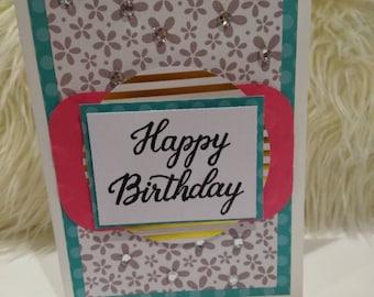 "Birthday Card, Handmade, 5x7"" Greeting card"