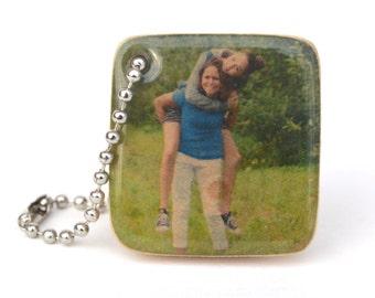 fathers day keychain for dad, Personalized photo keychain, Photo gift mom, girlfriend gift, personalized, custom photo keychain