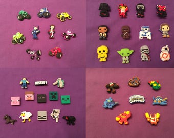 Shoe Charms for Crocs, Jibbitz - Blaze and the Monster Machines, Star Wars, Minecraft, Skylanders / Party Favors