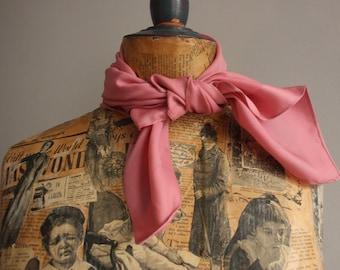 Vintage 1960's Scarf, pink vintage scarf, Pink scarf, 1960s pink scarf, Italian Pink Scarf, Vintage Italian Scarf,