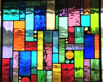 3 Stained Glass panel Window Treatments for bedroom windows