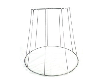 Wire lampshade frame etsy reserved vintage lampshade wireframe h 44cm top 29cm bottom 52 greentooth Images