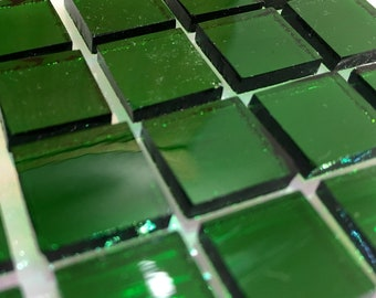 WATERGLASS - EMERALD GREEN Stained Glass Mosaic Supply A8/T17