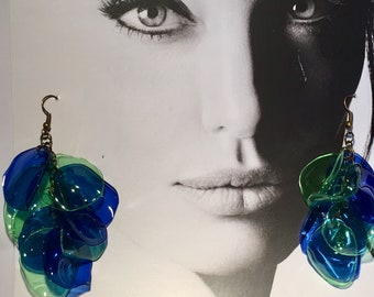 recycled plastic bottles earrings