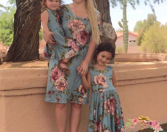 Mother Daughter Matching Dresses - Mommy and Me Dresses - Matching Outfits - Matching Family Outfits