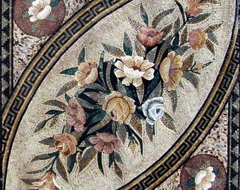 Mosaic Tile Pattern Design-Paisley