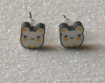 Teeny Tiny Cute Hamster Stud Earrings