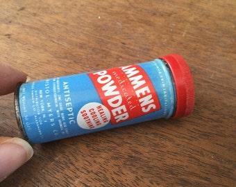 Vintage Ammens Medicated Powder Tin