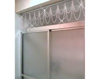 Bathtub/Shower Header Bling ...Double Swag.