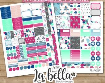 50% OFF SALE Spring Floral Digital Printable Planner Stickers, Weekly Stickers Digital Planner Stickers, spring floral Planner Stickers