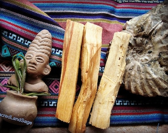 Palo Santo Wood (AA Grade) Holy Wood, Thick Cut (2-3 pc//1 oz/30gm) Calm/Cleanse/Bless. SOUL Retrieval. Native Shaman Ceremony. Wood Incense