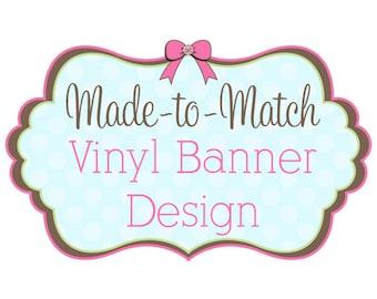 Made to Match Vinyl Banner Design - Fits Vista Print Templates - Craft Show Banner - Exhibit Banner - Vertical Banner  - Vinyl Sign